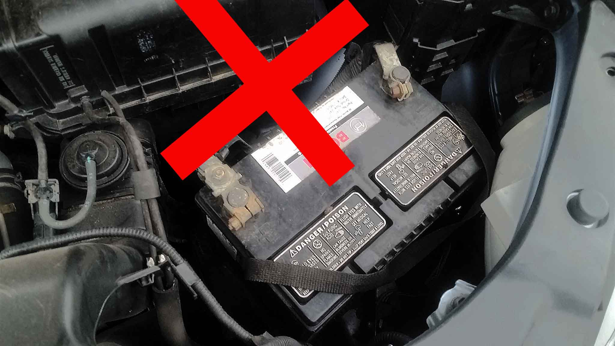 car battery not held down would move around and would get destroyed much quicker.